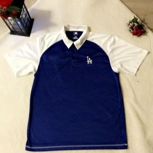 LOS ANGELES DODGERS POLO SHIRT/SIZE LARGE